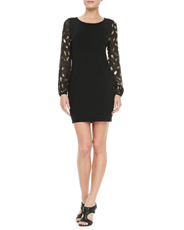 Diane von Furstenberg Alagna Long Sleeve Knit Dress