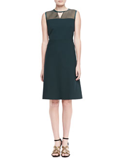 Elie Tahari Dania Georgette Bodice Dress