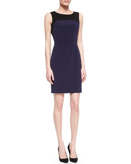 Elie Tahari Suzie Boat-Neck Sheath Dress