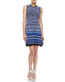 Nanette Lepore Jet Set Mix-Stripe Dress
