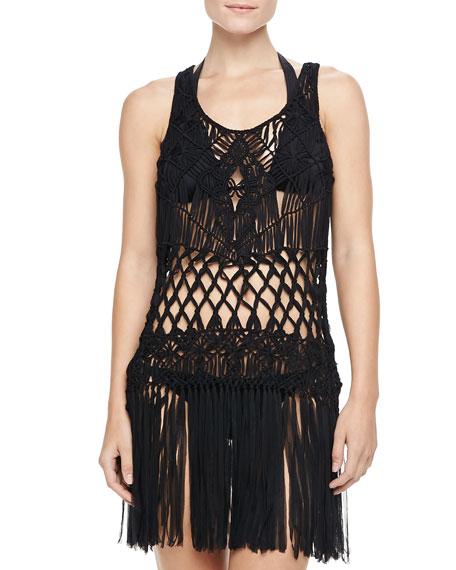 Macrame Sleeveless Dress Coverup