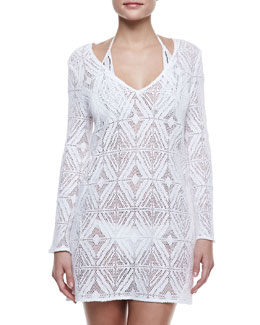 Milly Mykonos Crochet Coverup Tunic