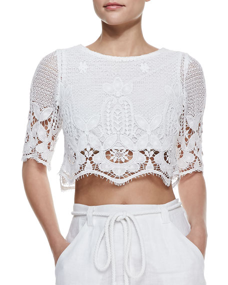 Lou Scalloped Crop Top