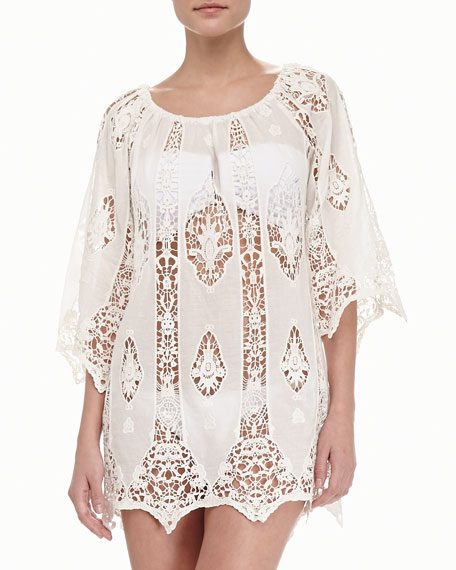 Bridgette Crochet-Inset Coverup Tunic
