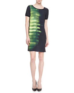 Elie Tahari Maudette Printed Shift Dress
