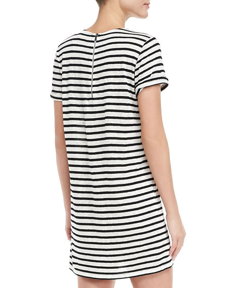 Striped Slub Dress