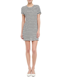 Alice + Olivia Striped Slub Dress