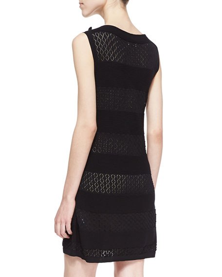 Red Valentino Cotton Yarn Dress With Bow Black