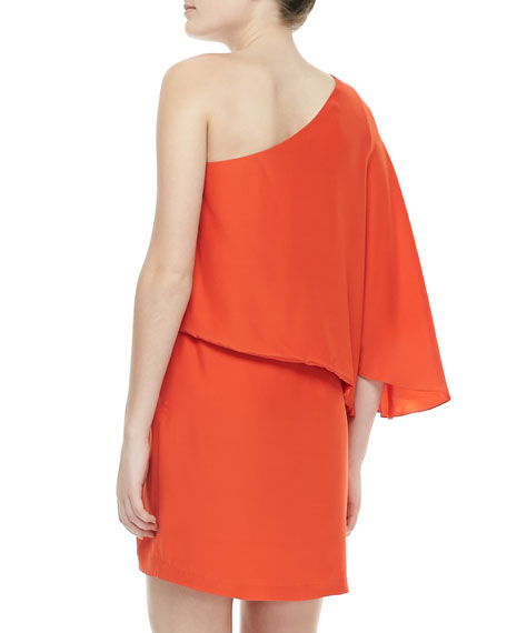 Helma One-Shoulder Flutter Dress