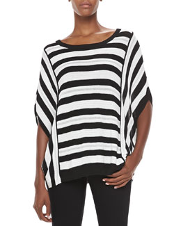 Elizabeth and James Striped Knit Dolman Sweater