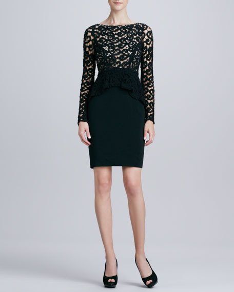 Lace-Bodice Cocktail Dress