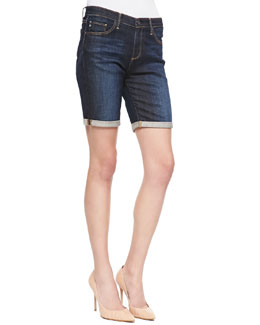 AG Adriano Goldschmied Brooke Rolled-Cuff Bermuda Shorts
