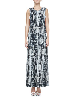 Haute Hippie Snake-Print Maxi Dress