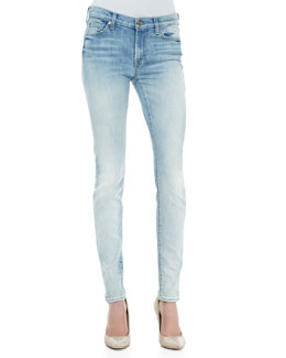 7 For All Mankind Faded Destroyed Skinny Jeans