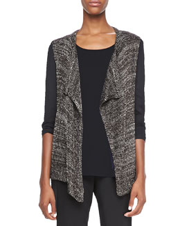 Elie Tahari Zareen Open-Front Sweater
