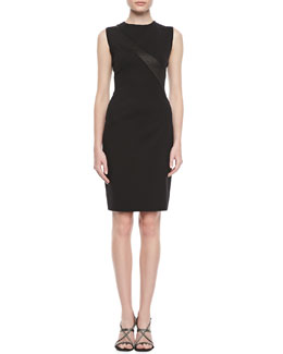 Elie Tahari Farida Crepe Sheath Dress