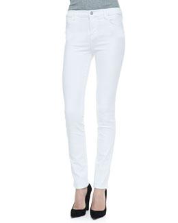 J Brand Jeans 2112 High Rise Rail Jeans, Blanc