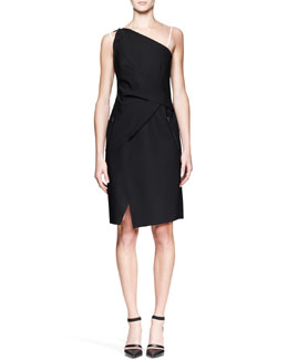 Helmut Lang Pierce Contrast Origami Dress
