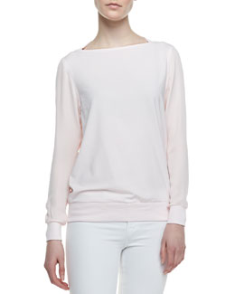 Theory Canaan Banded-Trim Sweater