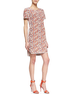 Rebecca Taylor Sweet William Floral-Print Dress