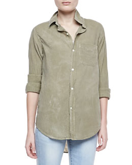 Current/Elliott The Prep School Distressed Shirt