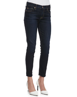 7 For All Mankind The Crop Skinny Slim Illusion