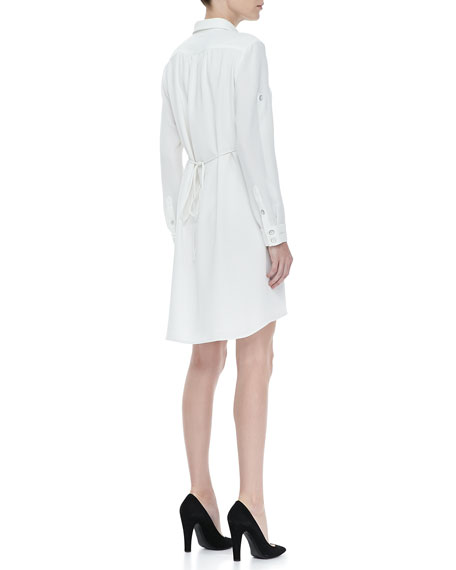 Prairie Tab-Sleeve Shirtdress