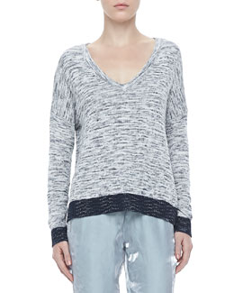 Rag & Bone Dionne Tonal V-Neck Sweater