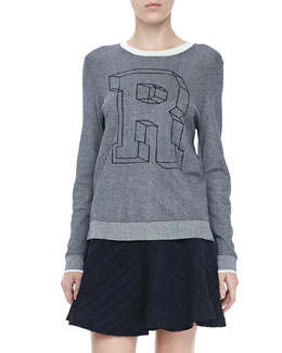"Rag & Bone Rina ""R"" Knit Sweatshirt"