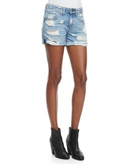 rag & bone/JEAN Boyfriend Rebel Distressed Shorts