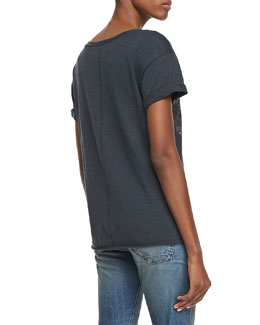 rag & bone/JEAN Chevron Knit Pocket Tee