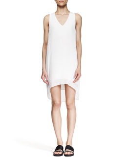 Helmut Lang Breeze High-Low Shift Dress