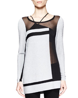 Helmut Lang Static Transfer Combo Sweater