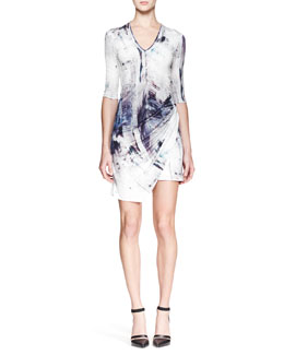 Helmut Lang Tidal Printed Jersey Dress