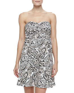 Carmen Marc Valvo Marrakech Imperial Printed Coverup