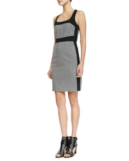 Nanette Lepore First Love Solid-Trim Dress