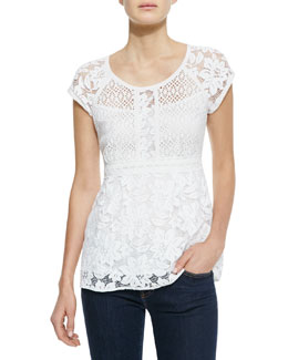 Nanette Lepore Kiss In The Dark Lace Top