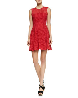 Nanette Lepore Fool For Love Flared Lace Dress