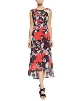 Nanette Lepore Scarlet Nights Floral-Print High-Low Dress