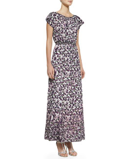 Nanette Lepore Modern Romance Floral-Print Long Dress