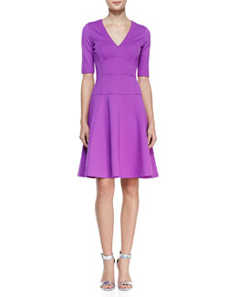 Nanette Lepore Catch A Mate Flared Ponte Dress