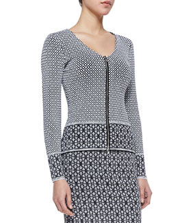 Nanette Lepore One & Done Front-Zip Cardigan