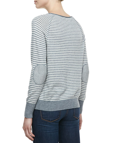 Tiani Wool-Cashmere Striped Knit Sweater