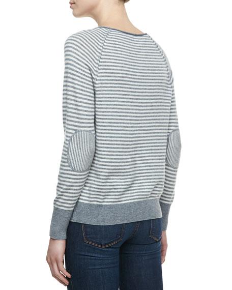 Tiani Wool-Cashmere Striped Knit Sweater