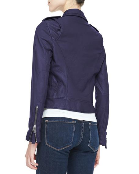Ailey Washed Leather Jacket