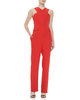 Opening Ceremony Celia Cross-Neck Jumpsuit