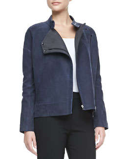 J Brand Ready to Wear Goodall Nubuck Leather Jacket