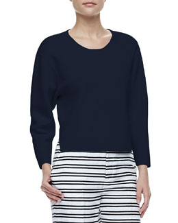 J Brand Ready to Wear Jill Dropped-Sleeve Sweater