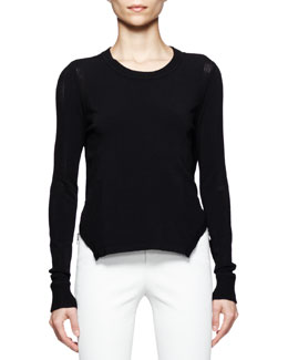 J Brand Ready to Wear Ellen Arch-Hem Sweater