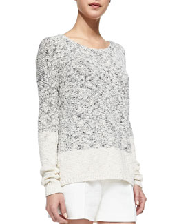 Vince Marbled Blocked Knit Sweater